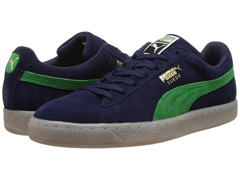 PUMA - Suede Classic Coastal (Peacoat/Fern Green) Athletic Shoes