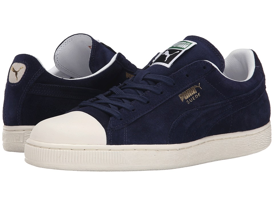 PUMA - Suede Rubber Toe (Peacoat/Whisper White) Athletic Shoes