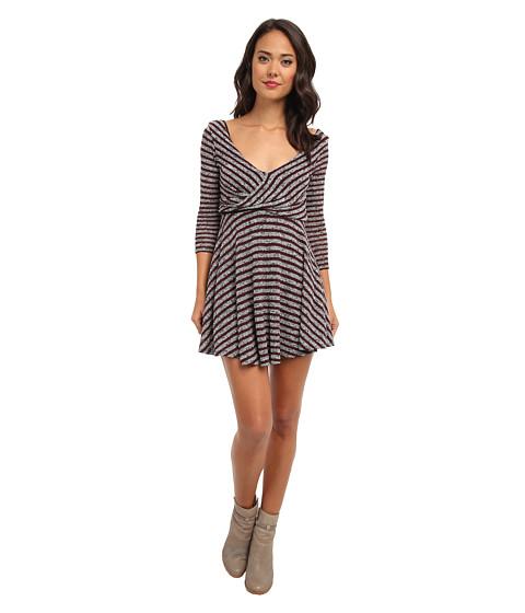Free People - Maverick Dress (Eggplant Combo) Women's Dress