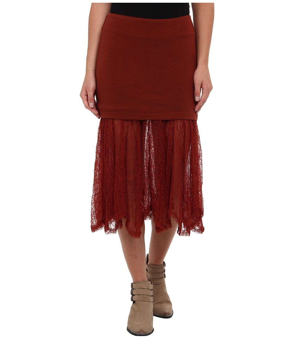 Free People - Two for One Skirt (Red Rust) Women's Skirt