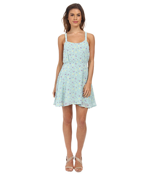 Gabriella Rocha - Natalia Spring Tank Dress (Light Blue Floral) Women's Dress