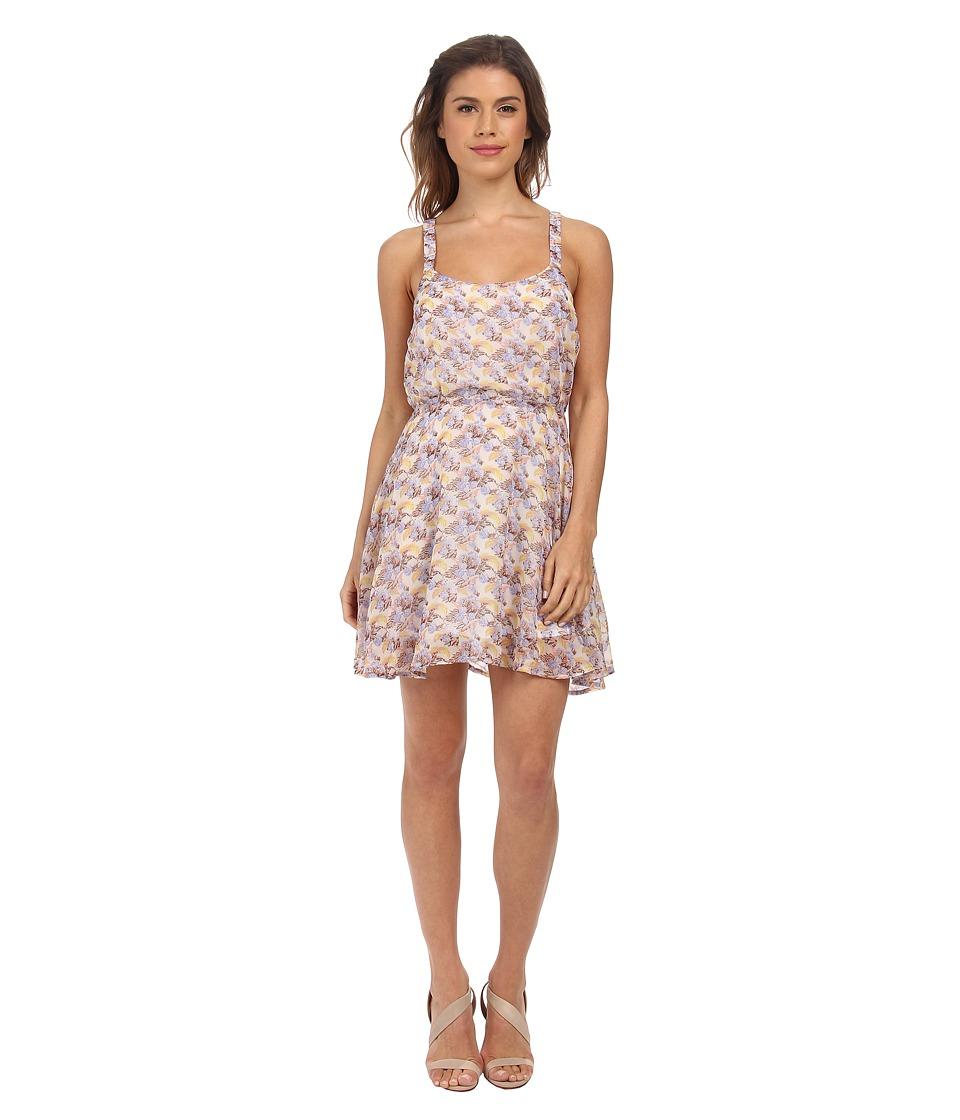 Gabriella Rocha Natalia Spring Tank Dress (Lavendar/Tan Floral) Women