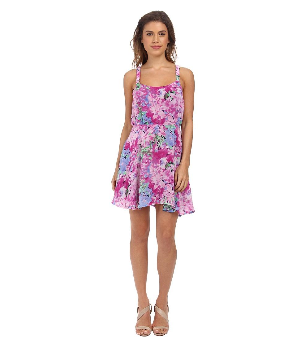 Gabriella Rocha Natalia Spring Tank Dress (Magenta/Blue Floral) Women