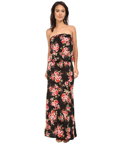 Brigitte Bailey - Sleek Riena Maxi Dress (Black Floral) Women's Dress