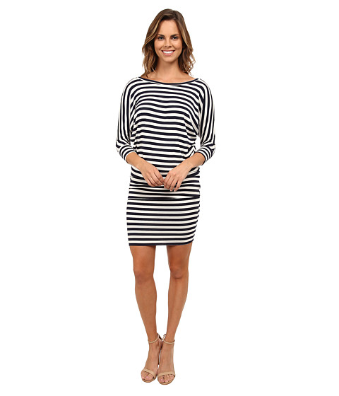 Culture Phit - Millie 3/4 Sleeve T-Shirt Dress (Navy/White Stripe) Women's Dress