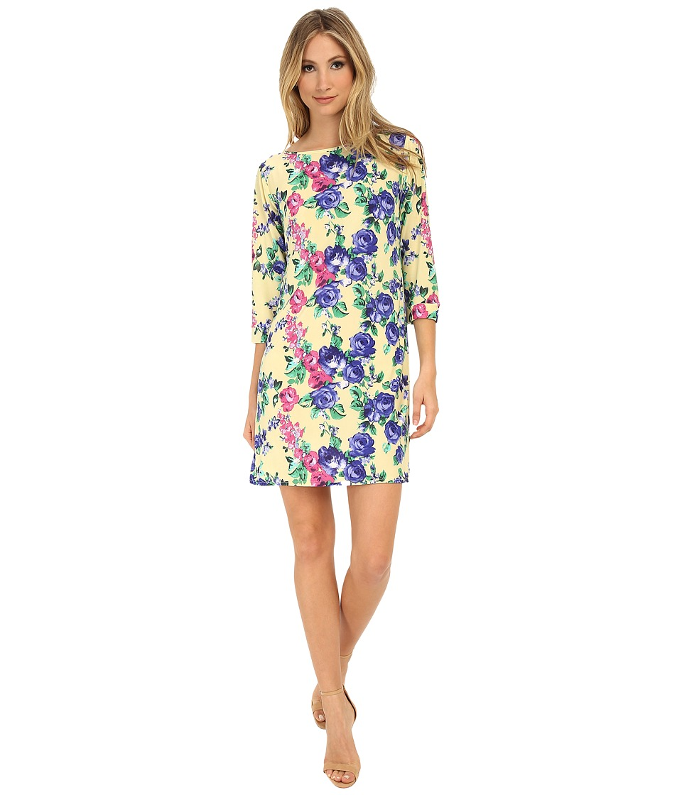 Gabriella Rocha - Vanessa Shift Dress (Yellow/Blue Floral) Women