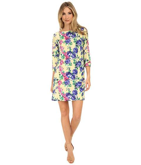 Gabriella Rocha - Vanessa Shift Dress (Yellow/Blue Floral) Women's Dress