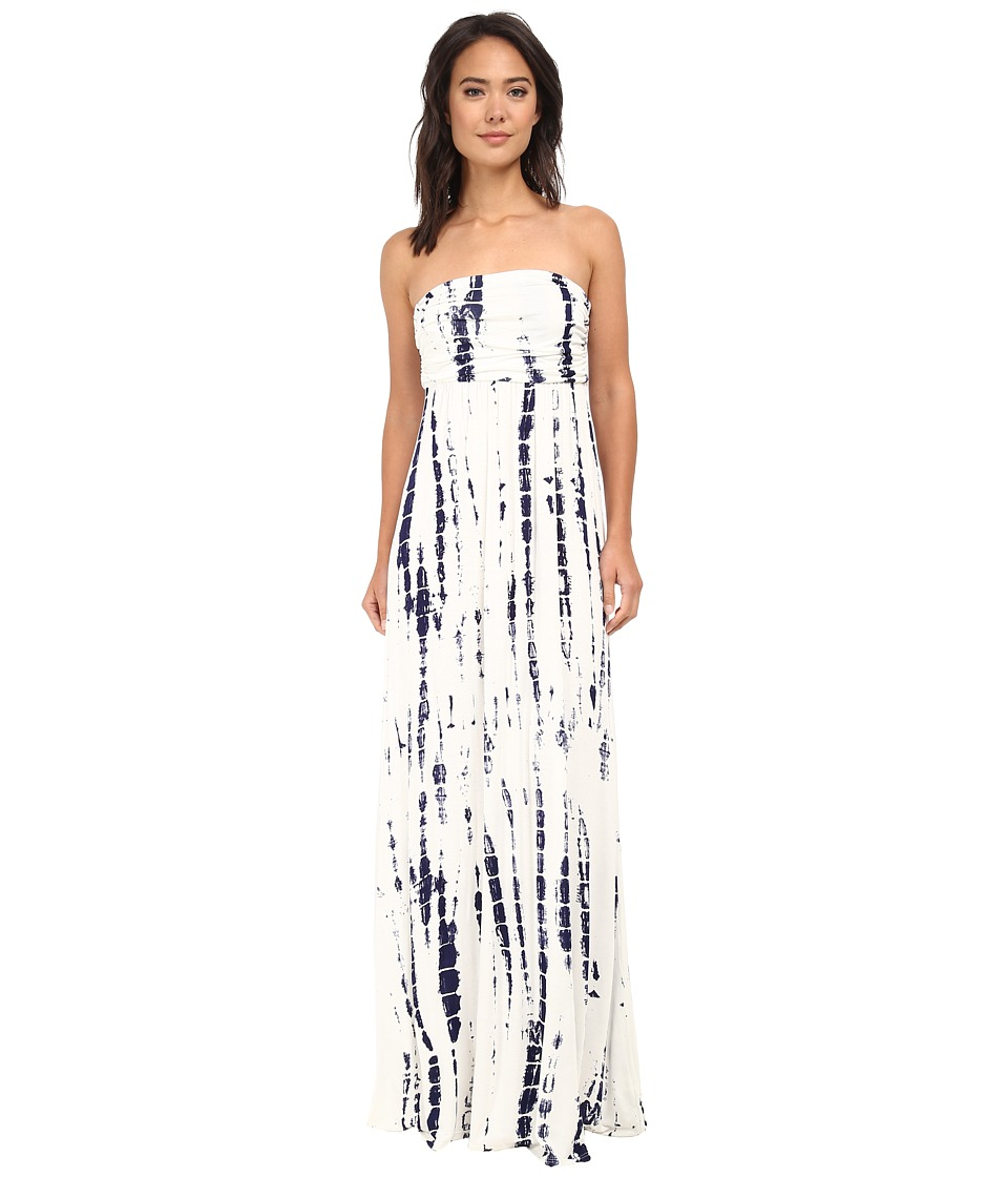 Culture Phit - Hally Dress (White/Navy Tie-Dye) Women's Dress