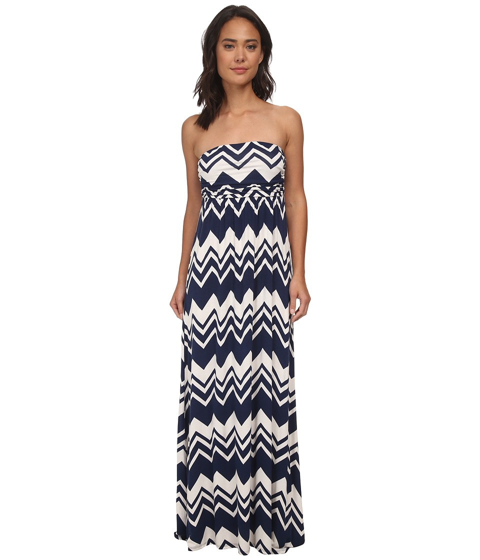 Culture Phit - Hally Dress (Navy/Ivory Chevron) Women's Dress