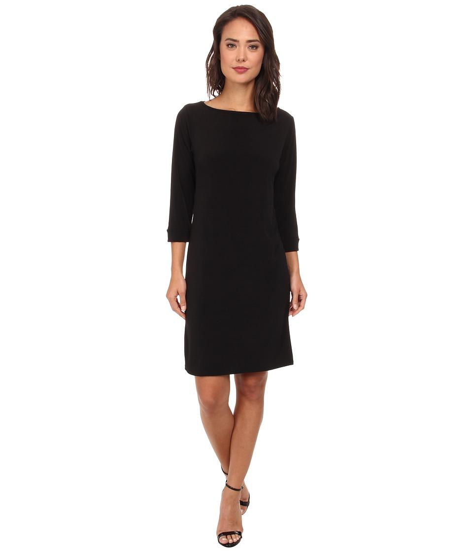 Christin Michaels - Susan Print Shift Dress (Black) Women