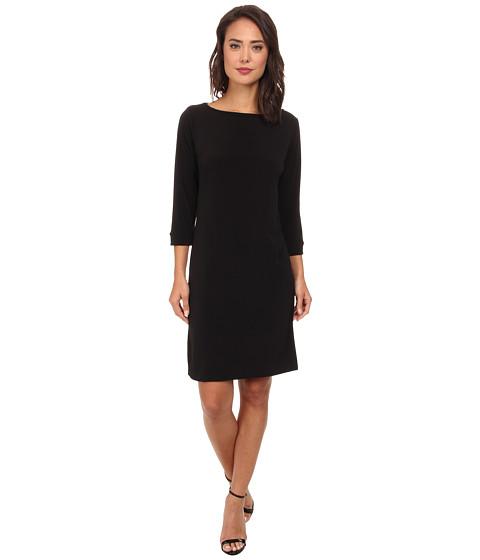 Christin Michaels - Susan Print Shift Dress (Black) Women's Dress