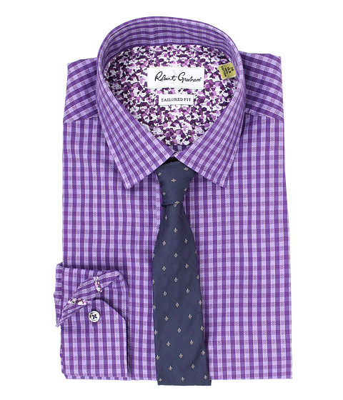 Robert Graham - X Tailored Fit Lucca Dress Shirt (Purple) Men's Long Sleeve Button Up