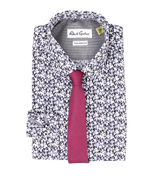Robert Graham - X Tailored Fit Portici Dress Shirt (Black) Men's Long Sleeve Button Up