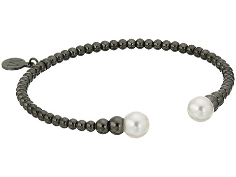 Majorica - 8mm Bead Steel Bracelet (Black/White) Bracelet