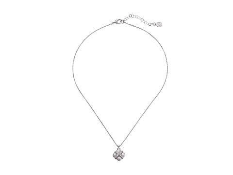Majorica - 6mm CZ CRS Necklace 16-18 (Silver/White) Necklace