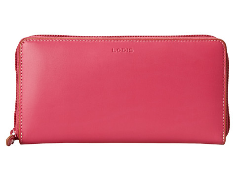 Lodis Accessories - Audrey Iris Zip Around (Hot Pink/Toffee) Checkbook Wallet