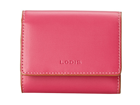 Lodis Accessories - Audrey Accordion Card Case (Hot Pink/Toffee) Credit card Wallet