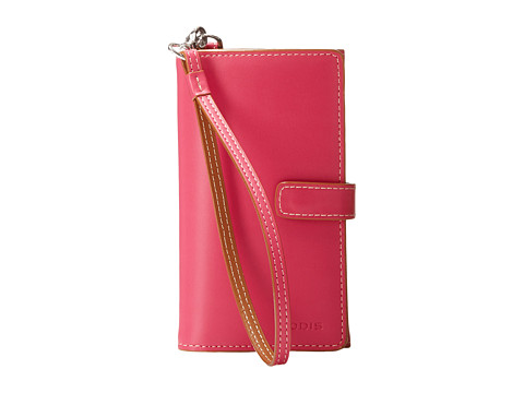Lodis Accessories - Audrey Cassie Cell Case with Wristlet (Hot Pink/Toffee) Wallet Handbags
