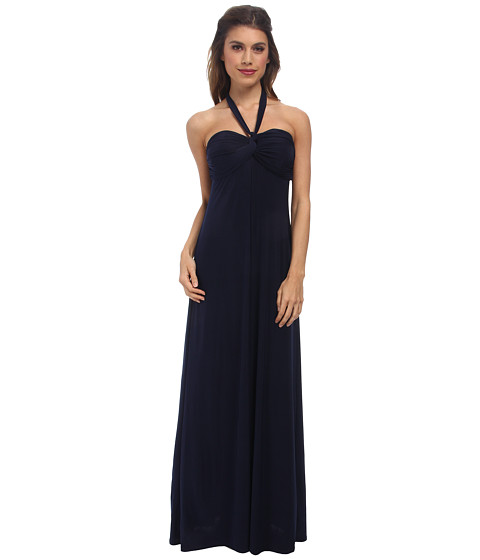 Tbags Los Angeles - Bandeau Halter Maxi (Navy) Women's Dress