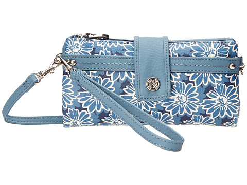 Relic - Vicky Checkbook (Blue/White) Clutch Handbags