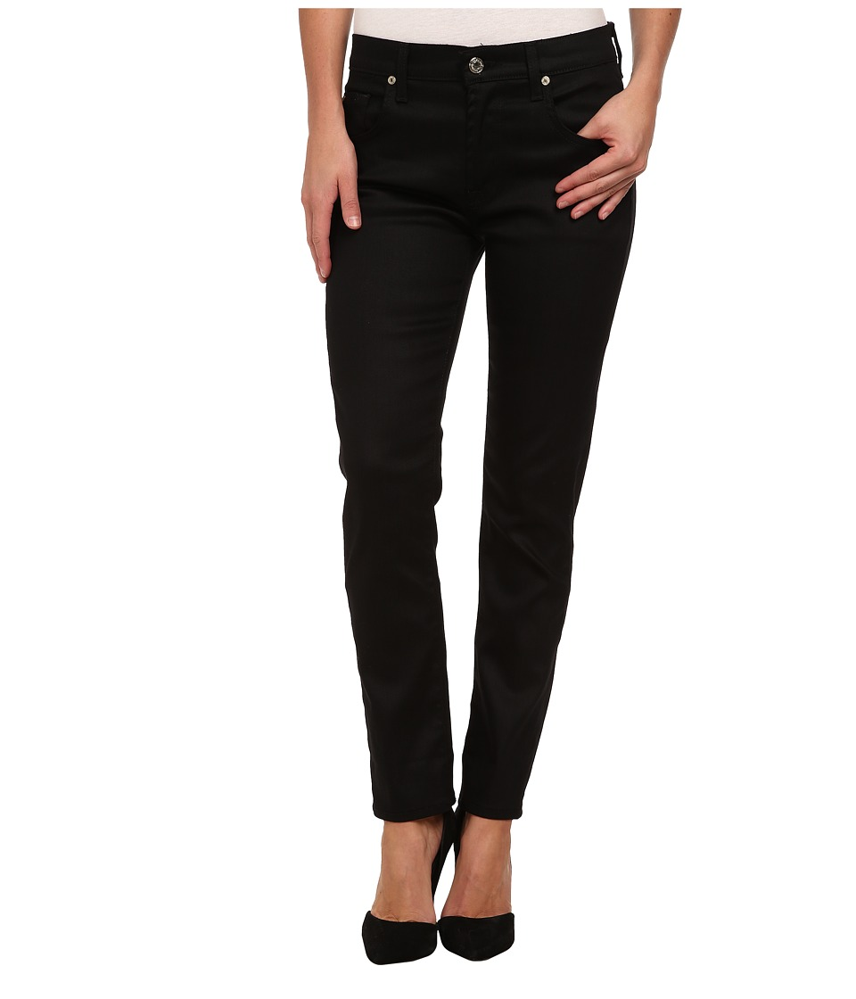 7 For All Mankind - Relaxed Skinny in Slick Black (Slick Black) Women's Jeans