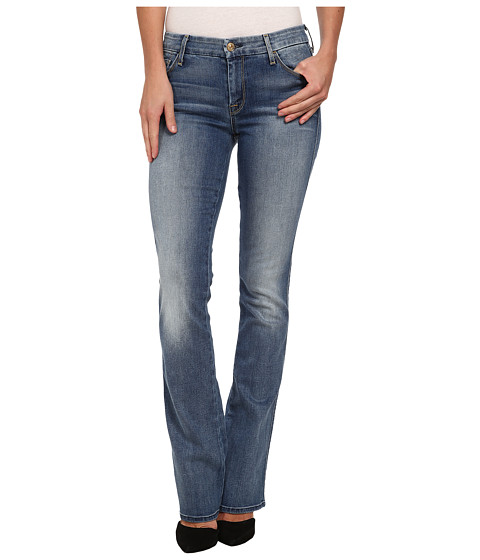 7 For All Mankind - The Skinny Bootcut w/ Contour Waistband in Slim Illusion Swiss Alps Blue (Slim Illusion Swiss Alps Blue) Women's Jeans