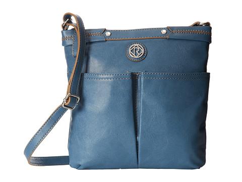 Relic - Bleeker Crossbody (Blue) Cross Body Handbags