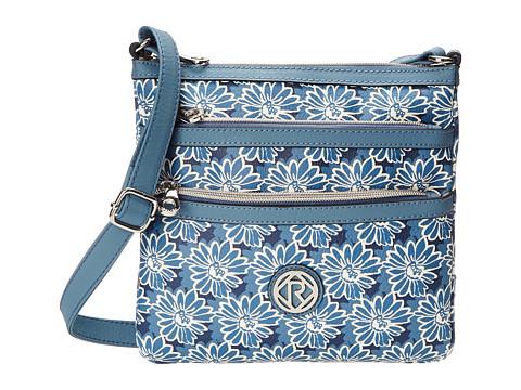 Relic - Erica N/S Top Zip (Blue/ White Print) Cross Body Handbags