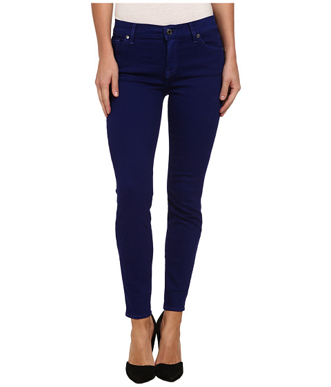 7 For All Mankind - The Ankle Skinny in Monaco Purple (Monaco Purple) Women