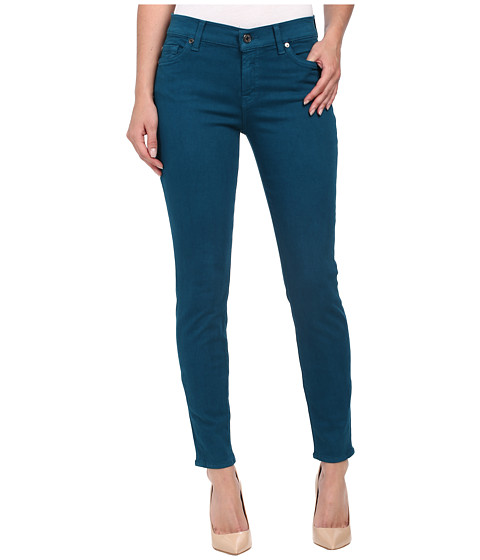 7 For All Mankind - The Ankle Skinny in Nautical Teal (Nautical Teal) Women's Jeans