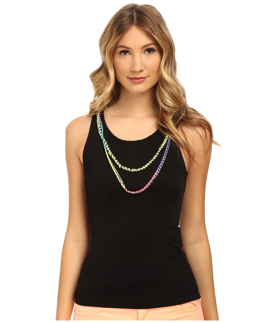 LOVE Moschino - Beaded Trim Tank (Black) Women's Sleeveless