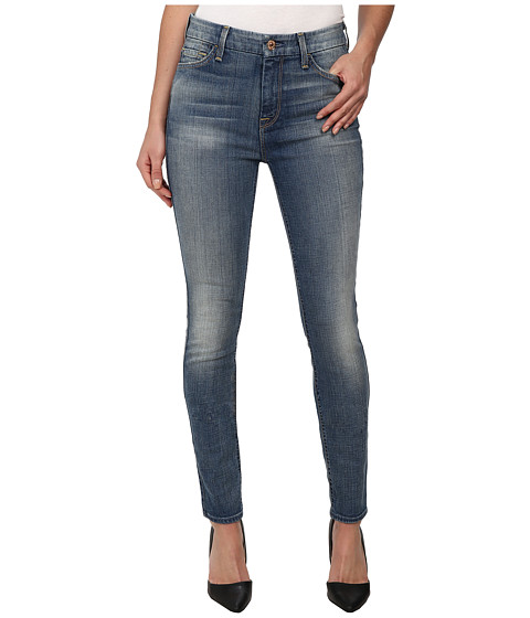 7 For All Mankind - The Highwaist Skinny w/ Contour Waistband in Slim Illusion Dusty Vintage Blue (Slim Illusion Dusty Vintage Blue) Women's Jeans