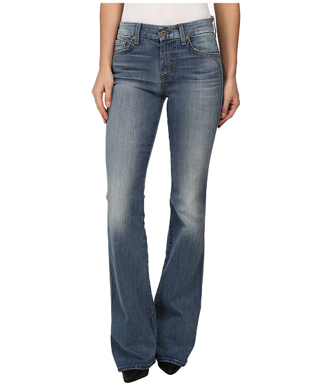 7 For All Mankind - A Pocket in Slim Illusion Dusty Vintage Blue (Slim Illusion Dusty Vintage Blue) Women