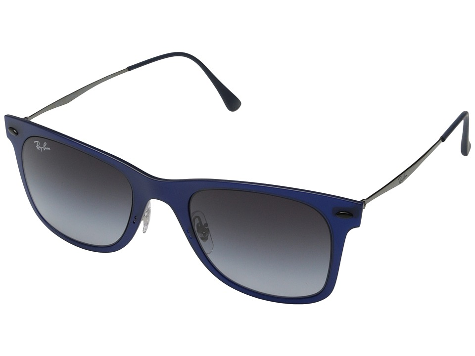 Ray-Ban - RB4210 50mm (Matte Dark Blue/Grey Gradient) Fashion Sunglasses