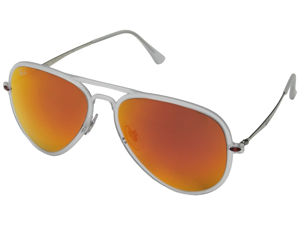 Ray-Ban - RB4211 56mm (Matte Transparent/Brown Mirror Orange) Fashion Sunglasses