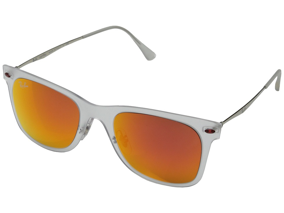 Ray-Ban - RB4210 50mm (Matte Transparent/Brown Mirror Orange) Fashion Sunglasses