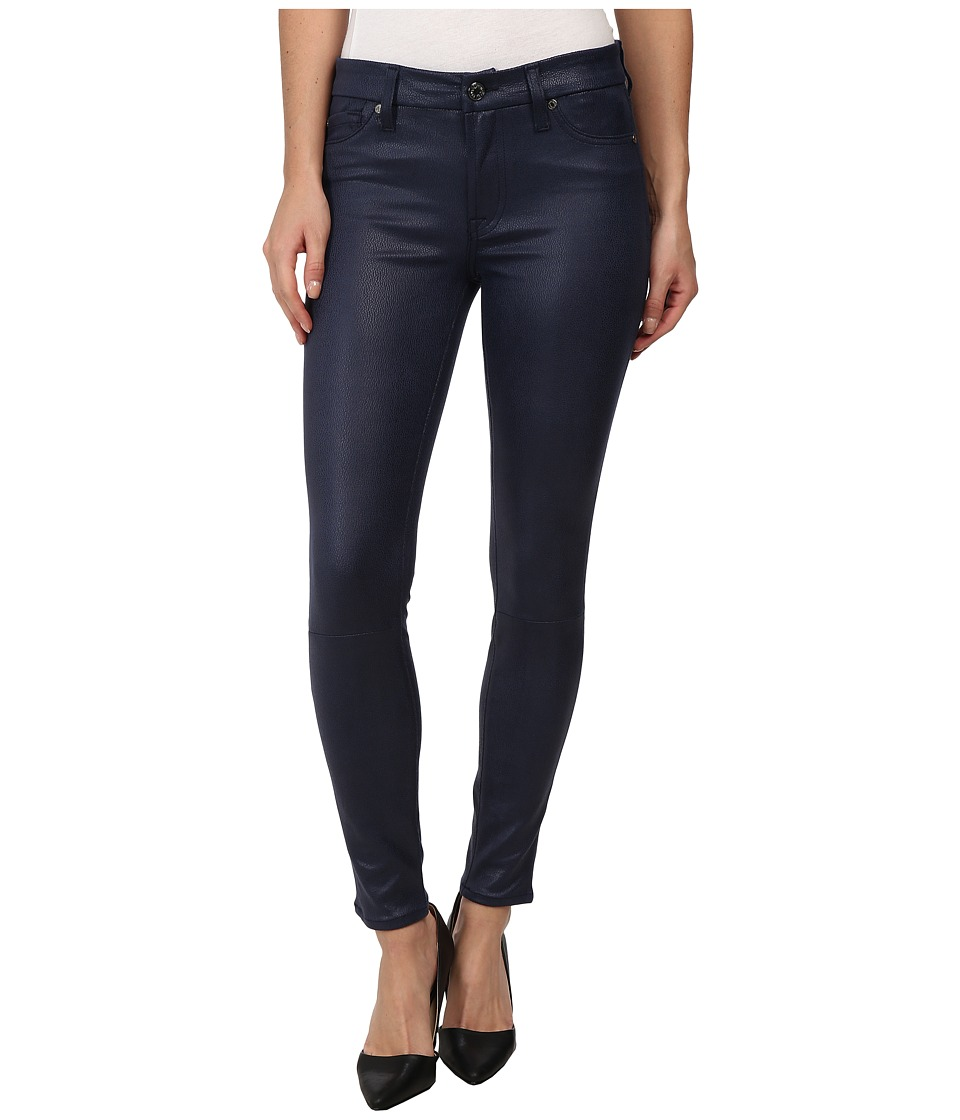 7 For All Mankind - Ankle Knee Seam Skinny w/ Contour Waistband in Deep Navy (Deep Navy) Women's Casual Pants