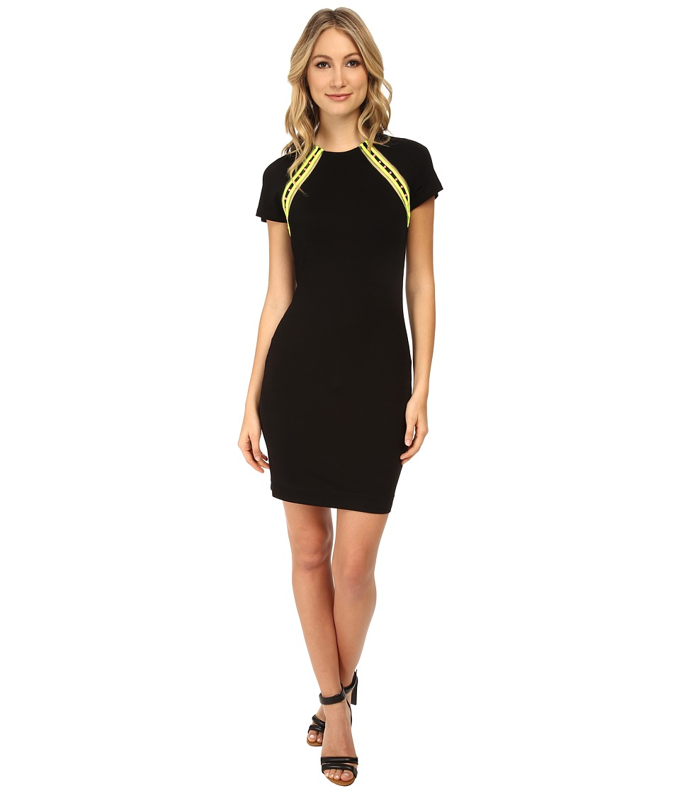 LOVE Moschino - S/S Woven Trim Dress (Black) Women