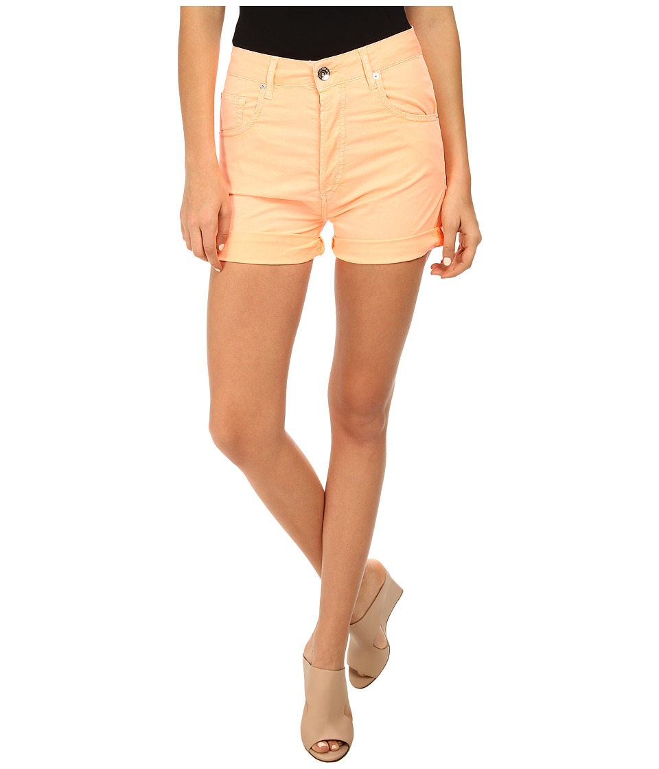 LOVE Moschino - Colored Denim High-Waisted Shorts (Orange) Women's Shorts