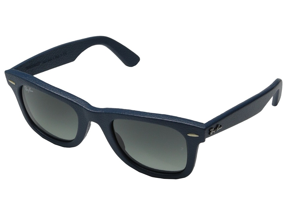 Ray-Ban - RB2140QM 50mm (Leather Blue) Fashion Sunglasses