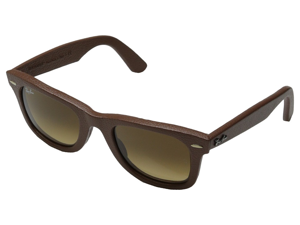 Ray-Ban - RB2140QM 50mm (Leather Brown) Fashion Sunglasses