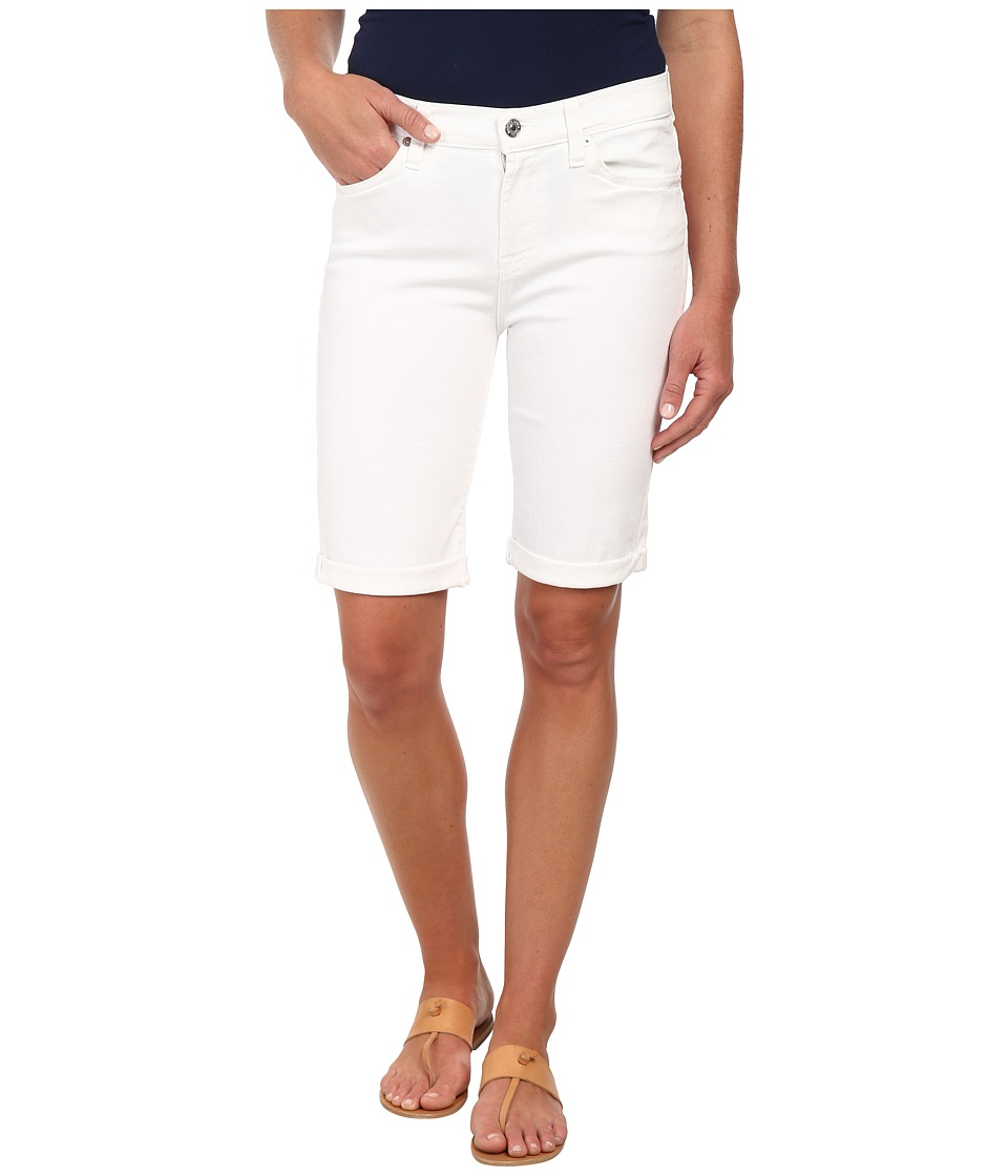 7 For All Mankind - Bermuda Short in Clean White (Clean White) Women's Shorts