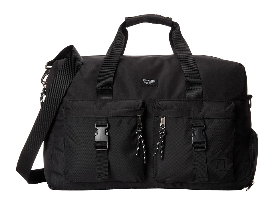 Steve Madden - Nylon Overnighter (Black) Bags