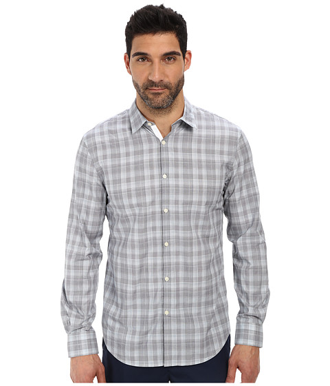 John Varvatos Star U.S.A. - Slim Fit Turnback Placket with Contrast Interior Shirt (Pond) Men