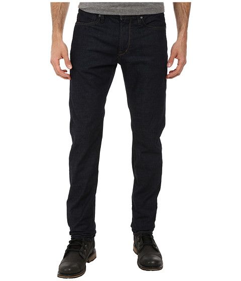 John Varvatos Star U.S.A. - Bowery Fit Jean V Stitch Pocket Zip Fly Low Rise Slim Straight Leg in Steel Blue (Steel Blue) Men