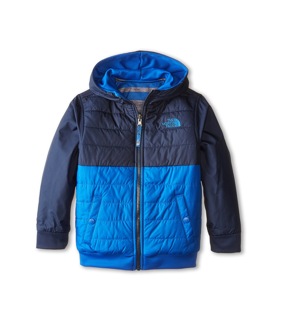 The North Face Kids - Reversible Quilted Surgent Hoodie (Little Kids/Big Kids) (Monster Blue) Boy