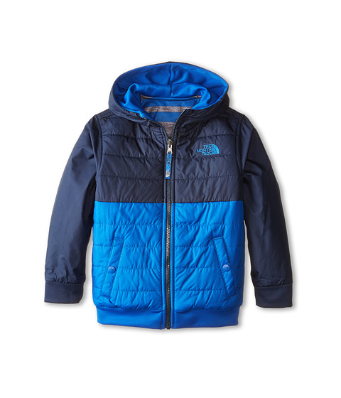 The North Face Kids - Reversible Quilted Surgent Hoodie (Little Kids/Big Kids) (Monster Blue) Boy's Jacket