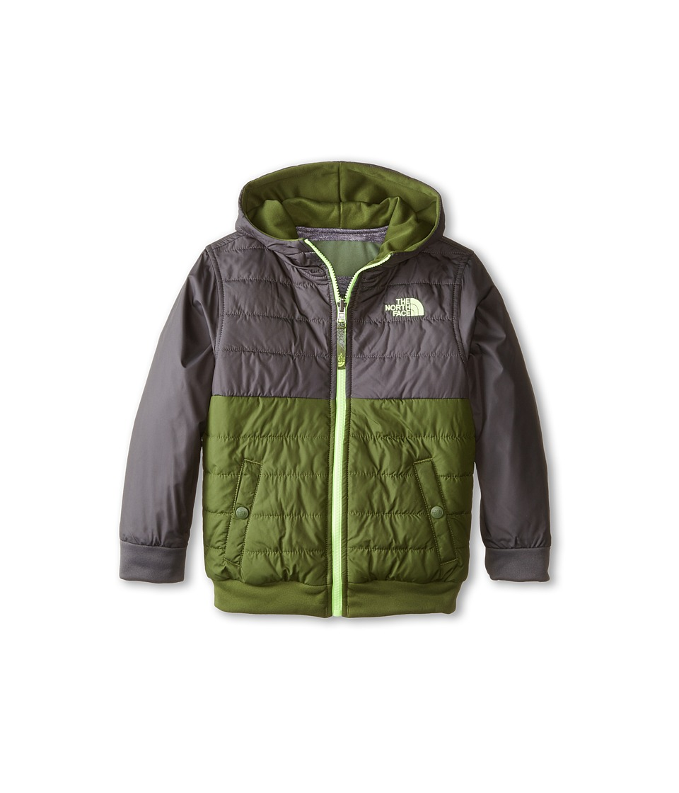 The North Face Kids - Reversible Quilted Surgent Hoodie (Little Kids/Big Kids) (Scallion Green) Boy