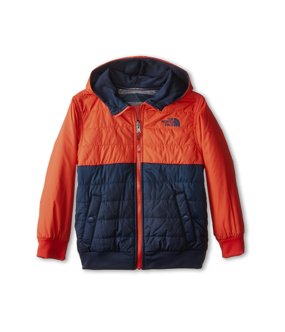 The North Face Kids - Reversible Quilted Surgent Hoodie (Little Kids/Big Kids) (Cosmic Blue/Fiery Red) Boy's Jacket