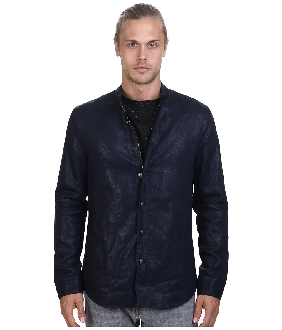John Varvatos Star U.S.A. - Shirt Jacket with Zip Detail Throughout (Lake) Men's Coat